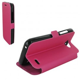 Etui Orange Hi 4G folio stand Fuchsia