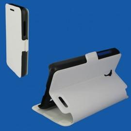 Etui Alcatel OT 5050/POP S3 Book case stand blanc