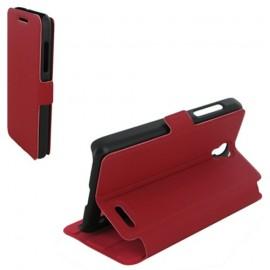 Etui Alcatel OT 5050/POP S3 Book case stand rouge