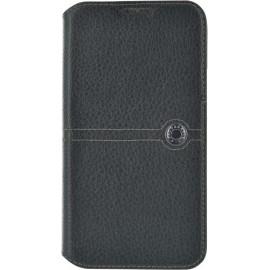 Etui Samsung Galaxy S5 G900 Façonnable folio cuir grainé noir