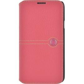 Etui Samsung Galaxy S5 G900 Façonnable folio cuir grainé rose