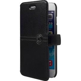 Etui iphone 6/6s Façonnable en cuir grainé noir