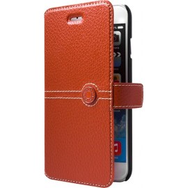 Etui iphone 6/6s Façonnable en cuir grainé orange