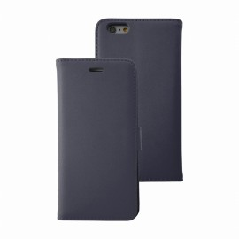 Etui iphone 6/6s folio bleu marine stand case