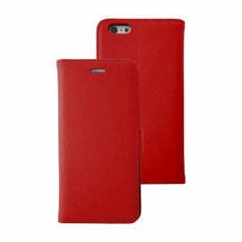 Etui iphone 6/6s folio rouge stand case
