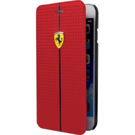 Etui iphone 6/6s folio Ferrari rouge finition carbone