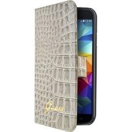Housse Galaxy S5 mini G800 Guess effet croco beige