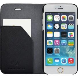 Etui iphone 6/6s folio Qdos en cuir noir