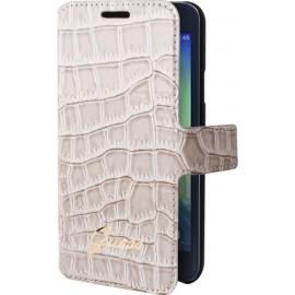 Etui Samsung Galaxy A3 A300 Guess effet croco beige folio