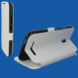 Etui Alcatel one touch pop s9 Stand blanc
