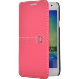Etui Samsung Galaxy A3 A300 folio Façonnable rose