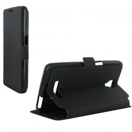 Etui Orange Fova stand noir