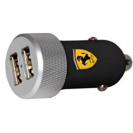 Chargeur micro USB Ferrari allume-cigare noir 2A