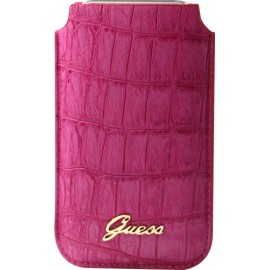 Pouch universel Guess rose effet croco