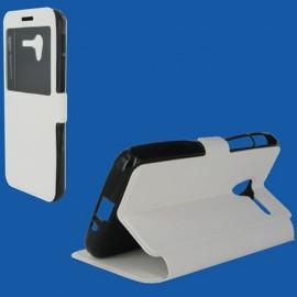 Etui Alcatel Pixi 3 (5.0) Folio stand blanc vision