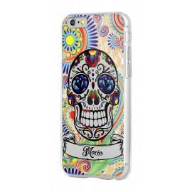 Coque iphone 6/6s crâne de mort bleu