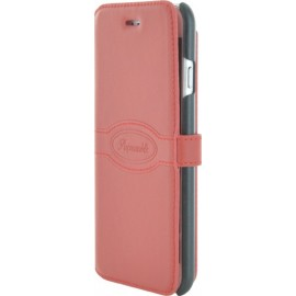 Etui iphone 6/6s Façonnable folio Rouge Pastel