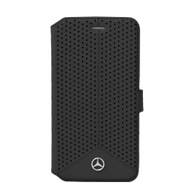 Etui iphone 6/6s Mercedes Folio Perforé noir