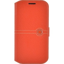Etui Samsung Galaxy Ace 4 g357 folio Façonnable orange