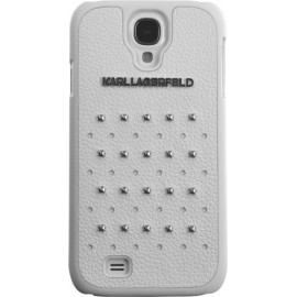 Coque Samsung Galaxy S4 I9500 Karl Lagerfeld blanche cloutée