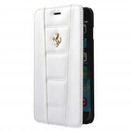 Etui iphone 6 plus / 6s plus folio Ferrari Blanc