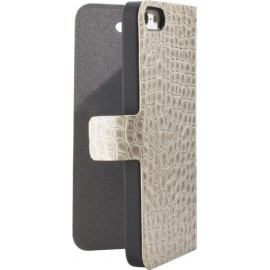 Etui Guess iPhone 4/4S beige effet croco folio