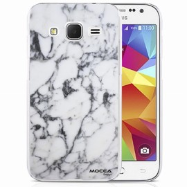 Coque Samsung Galaxy Core Plus g350 crystal marbre blanc ...