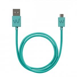 WIKO CABLE USB / MICRO-USB 1M TURQUOISE ORIGINE WIKO