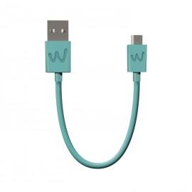 WIKO CABLE USB / MICRO-USB 20CM TURQUOISE ORIGINE WIKO