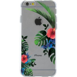 Coque iPhone 6 / 6S rigide fleurs tropicales