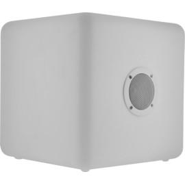 Enceinte ColorCube blanche lumineuse sans fil Colorblock taille L
