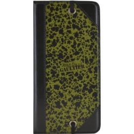 Etui iPhone 6 / 6s folio coque Jean Paul Gaultier carton à dessin vert