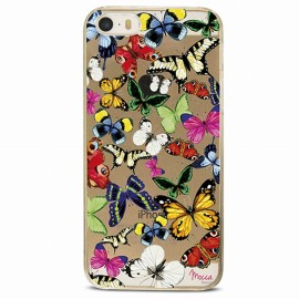 COQUE IPHONE 5 / 5S / SE CRYSTAL PAPILLONS