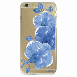 COQUE IPHONE 6 / 6S CRYSTAL ORCHIDEE BLEUE