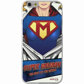COQUE IPHONE 6 / 6S CRYSTAL SUPER MAMAN