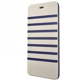 Etui iphone 6 / 6s  Jean Paul Gaultier folio Marinière blanche