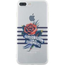 Coque iPhone 7 Plus Jean Paul Gaultier Marinière bleue et impression tatoo