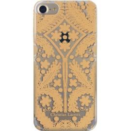 Coque iPhone 7 Paseo métal de Christian Lacroix transparente et dorée