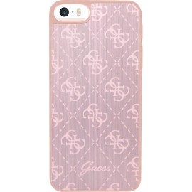 Coque iPhone 5 / 5s / SE Guess rose en aluminium