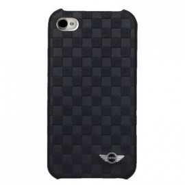 Coque IPhone 4 / 4S Mini effet damier noire