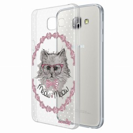 Coque Samsung Galaxy A3 A310 2016 crystal chat noeud pap