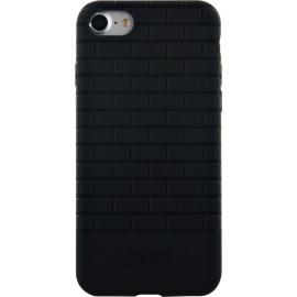 Coque iPhone 7 Jean Paul Gaultier briques de métro semi-rigide noire