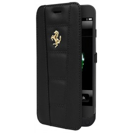 Etui iphone 6 / 6s Ferrari 458 folio power case cuir noir