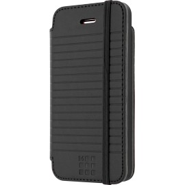Etui iPhone 5 / 5S / SE Folio Moleskine noir rayé