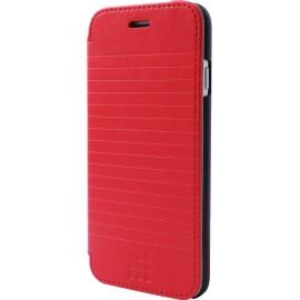 Etui iPhone 6 / 6s Folio Moleskine rouge rayé