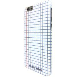 Coque iPhone 6 / 6S Ines de la Fressange motif carreaux blanche