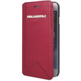 Etui iPhone 6 / 6S Karl Lagerfeld Folio rouge