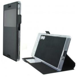 Etui Sony Xperia XZ folio vision noir