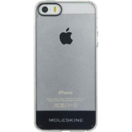 Coque iPhone 5 / 5S / SE Moleskine transparente rigide