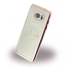 Coque Samsung Galaxy S7 Edge G935 Guess Tpu Coeur rose or